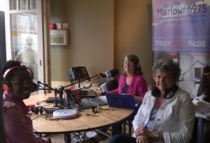 Jean Wolfe presenting the Biz Buzz show on Marlow FM